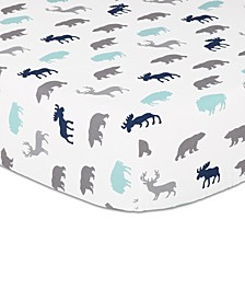 Woodland Silhouette Fitted Crib Sheet