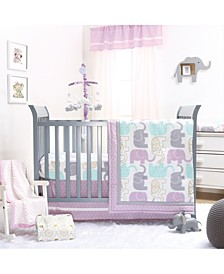 Little Peanut Lilac 4-Piece Crib Bedding Set