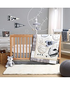 Sports League 3-Piece Crib Bedding Set