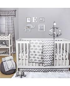 The Peanutshell Ellie Chevron 4-Piece Crib Bedding Set