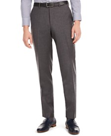 Bar III Men's Slim-Fit Gray Flannel Suit Separate Pants, Created for Macy's