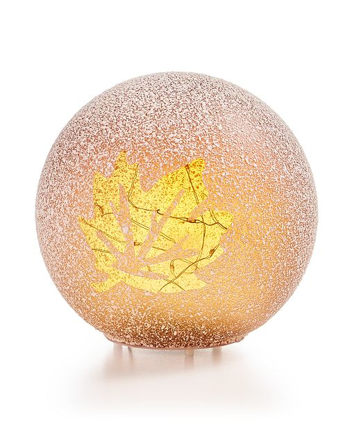 Home Essentials CLOSEOUT! Harvest Small Leaf LED Globe