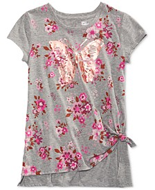 Big Girls Butterfly Side Tie T-Shirt, Created for Macy's