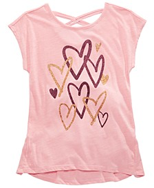 Big Girls Scribble Heart T-Shirt, Created for Macy's