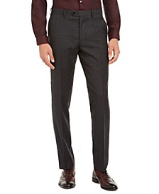 Men's Slim-Fit Gray Plaid Suit Separate Pants, Created for Macy's
