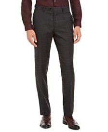 Bar III Men's Slim-Fit Gray Plaid Suit Separate Pants, Created for Macy's