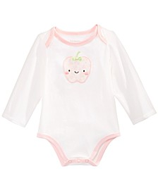 Baby Girls Apple Bodysuit, Created for Macy's