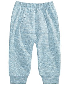 First Impressions Baby Girls Marled Jogger Pants, Created for Macy's