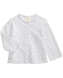 First Impressions Baby Girls Cotton Dot Cardigan, Created for Macy's