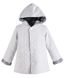 Baby Boys Cotton Quilted Reversible Jacket, Created for Macy's