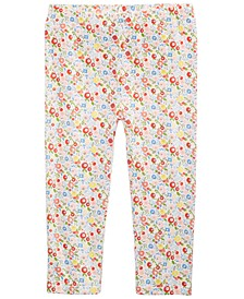 Baby Girls Ditsy Floral-Print Cotton Leggings, Created for Macy's