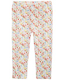 First Impressions Toddler Girls Ditsy Floral-Print Cotton Leggings, Created for Macy's