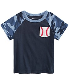 First Impressions Baby Boys Baseball-Print Cotton T-Shirt, Created for Macy's