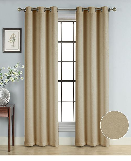 """Universal Home Fashions Windsor Panel Branch, 40"""" x 84"""" Blackout"""