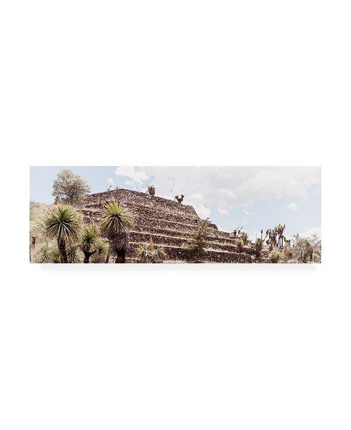 "Trademark Global Philippe Hugonnard Viva Mexico 2 Pyramid of Cantona Archaeological Site VII Canvas Art - 36.5"" x 48"""