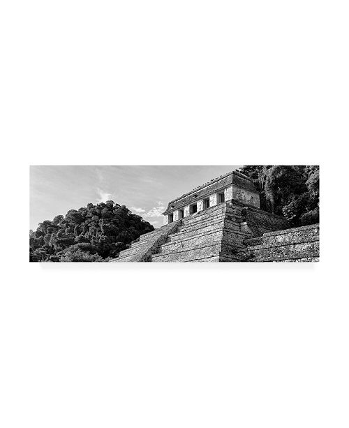"Trademark Global Philippe Hugonnard Viva Mexico 2 Mayan Temple of Inscriptions Palenque II Canvas Art - 27"" x 33.5"""