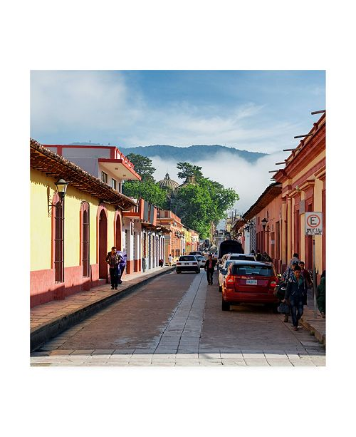"Trademark Global Philippe Hugonnard Viva Mexico 3 Morning in San Cristobal de Las Casas II Canvas Art - 36.5"" x 48"""