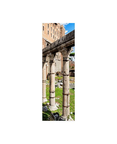 "Trademark Global Philippe Hugonnard Dolce Vita Rome 2 Architecture Columns Canvas Art - 36.5"" x 48"""