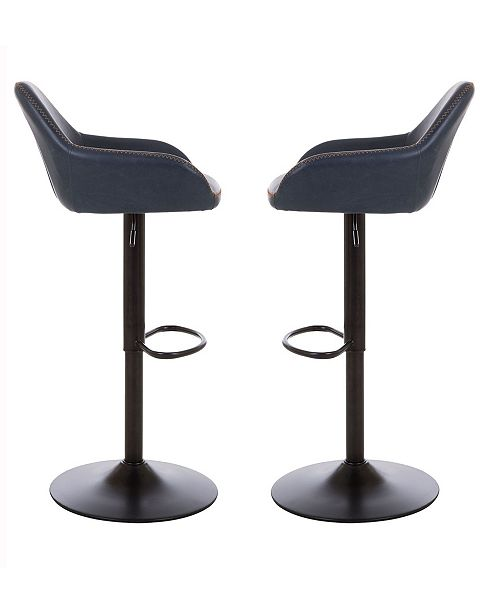 Awe Inspiring Mid Century Modern Vintage Leatherette Gaslift Adjustable Swivel Bar Stool Set Of 2 Forskolin Free Trial Chair Design Images Forskolin Free Trialorg