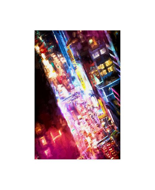 """Trademark Global Philippe Hugonnard Time Square Photograph Canvas Art - 27"""" x 33.5"""""""