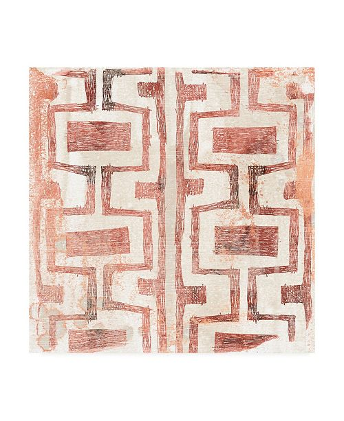 """Trademark Global June Erica Vess Red Earth Textile V Canvas Art - 19.5"""" x 26"""""""