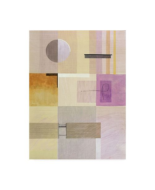 "Trademark Global Pablo Esteban Purple and Green Abstract Canvas Art - 36.5"" x 48"""