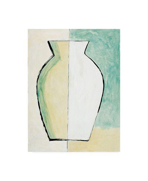 "Trademark Global Pablo Esteban White and Yellow Vase Canvas Art - 36.5"" x 48"""