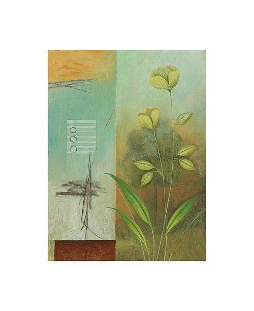 "Trademark Global Pablo Esteban Budding Flower with Tree Canvas Art - 15.5"" x 21"""