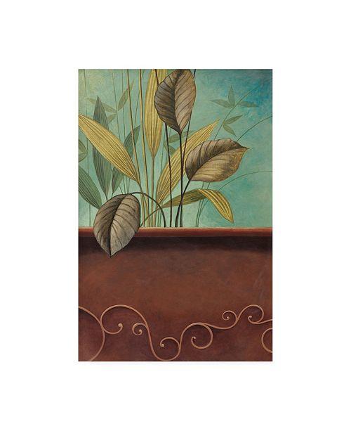 "Trademark Global Pablo Esteban Greenery with Scrolling Border Canvas Art - 19.5"" x 26"""