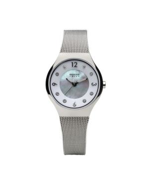 Bering Ladies' Slim Solar Stainles Steel Mesh Watch