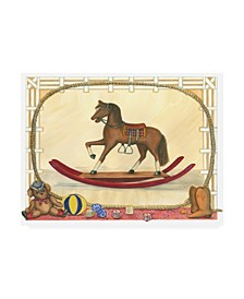 "Tara Friel Rocking Horse I Childrens Art Canvas Art - 36.5"" x 48"""