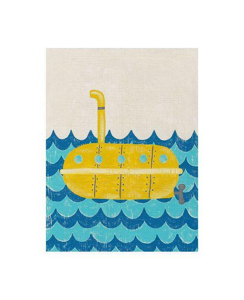 "Trademark Global Chariklia Zarris Trumans Voyage IV Childrens Art Canvas Art - 15.5"" x 21"""