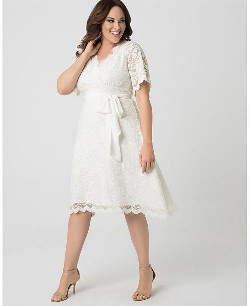 Kiyonna Women's Plus Size Graced With Love Dress