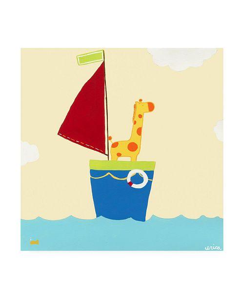 "Trademark Global June Erica Vess Sailboat Adventure I Canvas Art - 19.5"" x 26"""