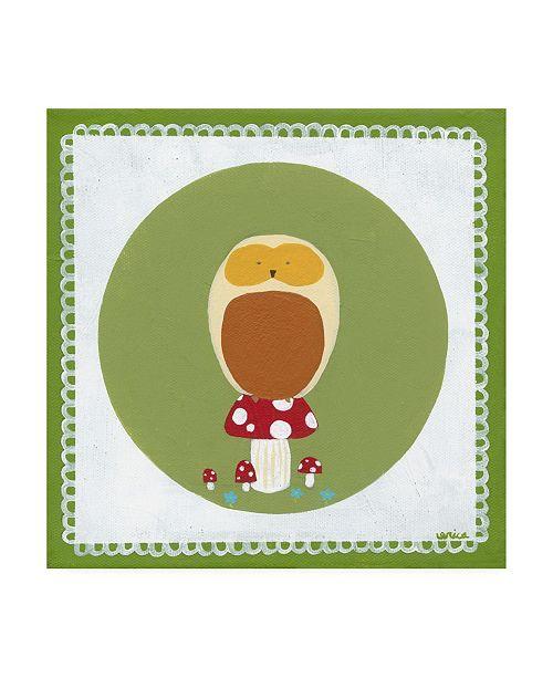 "Trademark Global June Erica Vess Owl Cameo III Canvas Art - 15.5"" x 21"""