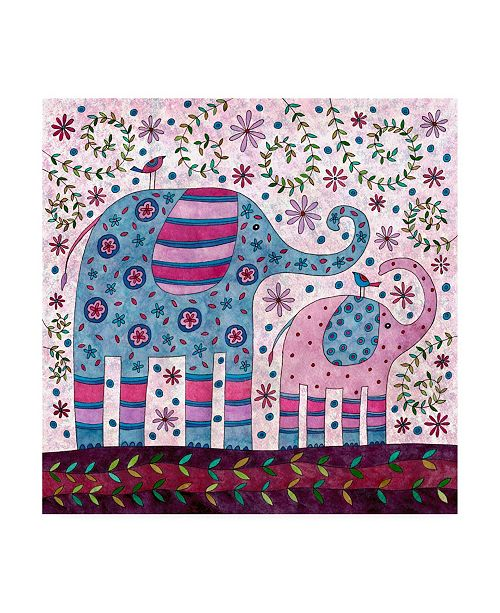 "Trademark Global Kim Conway Elephant Walk Canvas Art - 15.5"" x 21"""