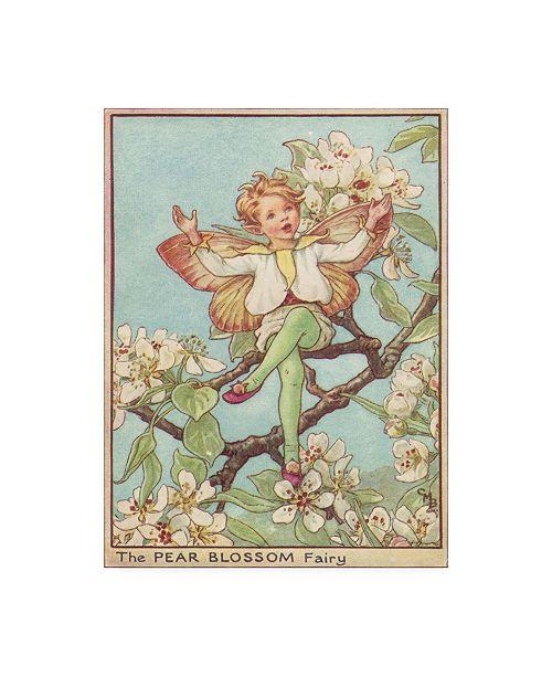 "Trademark Global Vision Studio The Pear Blossom Fairy Canvas Art - 36.5"" x 48"""