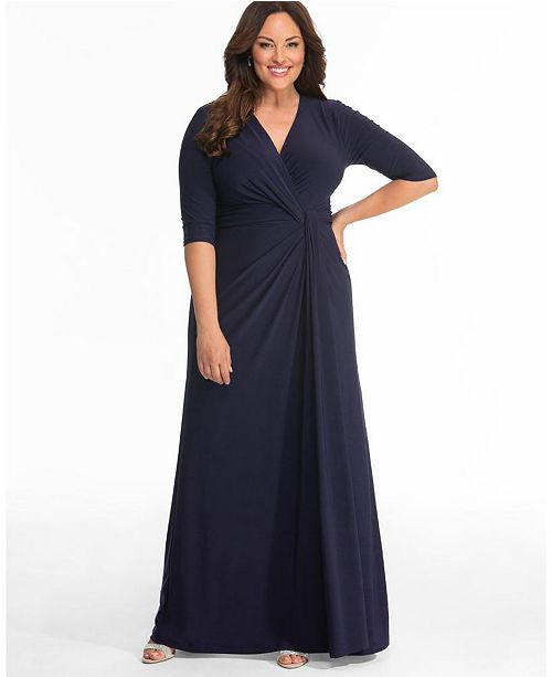 Kiyonna Women's Plus Size Romanced By Moonlight Gown
