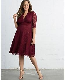 Kiyonna Women's Plus Size Mademoiselle Lace Dress