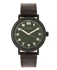 Men's Felix Genuine Leather Strap Watch 42mm