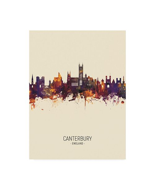 "Trademark Global Michael Tompsett Canterbury England Skyline Portrait III Canvas Art - 19.5"" x 26"""