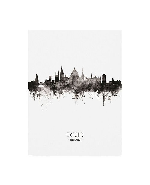 "Trademark Global Michael Tompsett Oxford England Skyline Portrait II Canvas Art - 19.5"" x 26"""
