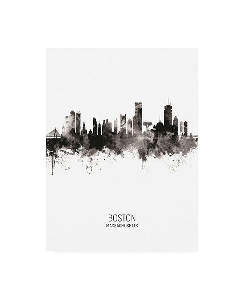 "Trademark Global Michael Tompsett Boston Massachusetts Skyline Portrait II Canvas Art - 27"" x 33.5"""