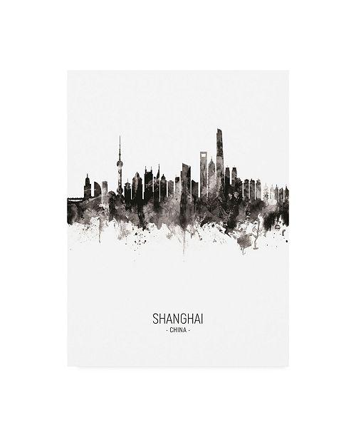 "Trademark Global Michael Tompsett Shanghai China Skyline Portrait II Canvas Art - 15.5"" x 21"""