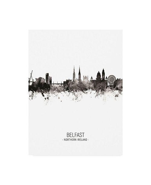 "Trademark Global Michael Tompsett Belfast Northern Ireland Skyline Portrait II Canvas Art - 19.5"" x 26"""