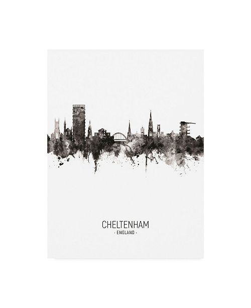 "Trademark Global Michael Tompsett Cheltenham England Skyline Portrait II Canvas Art - 27"" x 33.5"""