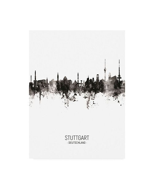 "Trademark Global Michael Tompsett Stuttgart Germany Skyline Portrait II Canvas Art - 19.5"" x 26"""