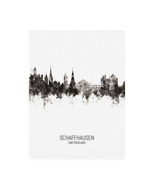 "Trademark Global Michael Tompsett Schaffhausen Switzerland Skyline Portrait II Canvas Art - 19.5"" x 26"""