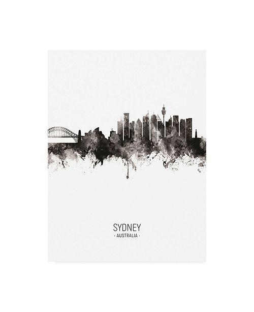 "Trademark Global Michael Tompsett Sydney Australia Skyline Portrait II Canvas Art - 36.5"" x 48"""