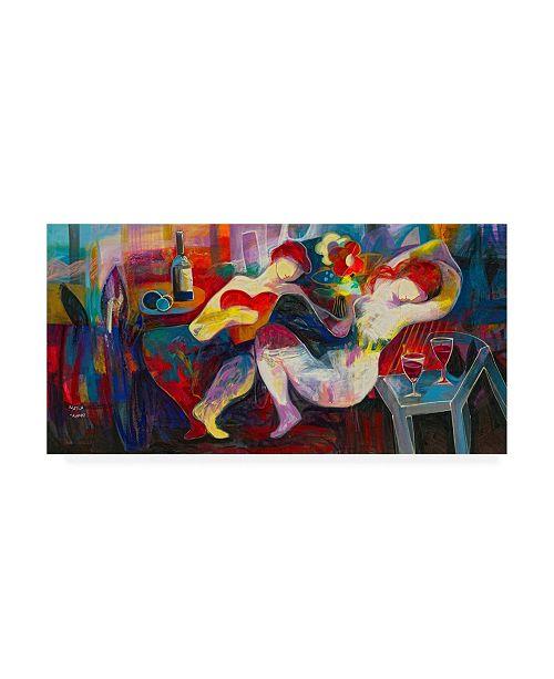 "Trademark Global Jessica Acunda Noche de amor Canvas Art - 36.5"" x 48"""